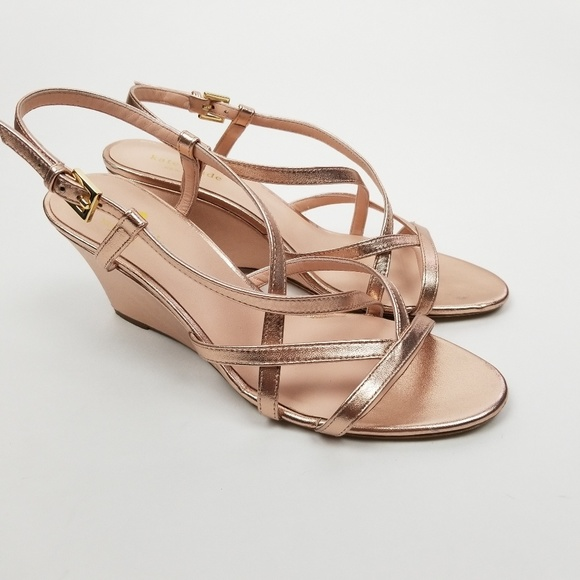 1a071445a55 kate spade Shoes - Kate Spade SZ 10 M rose gold wedge heels